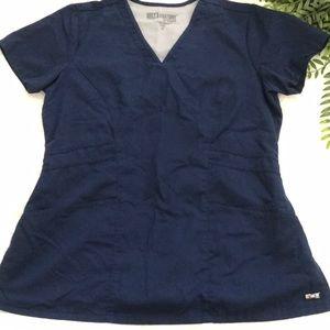 Navy Greys Anatomy scrub top